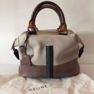 CELINE Racer Stripe Boston Bag